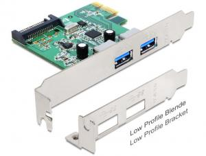 Delock Kontroler USB 3.0 Delock PCIe 2x USB 3.0