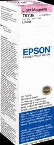 EPSON Atrament light magenta w butelce 70 ml (T6736) do Epson L800/L850/L800/L850