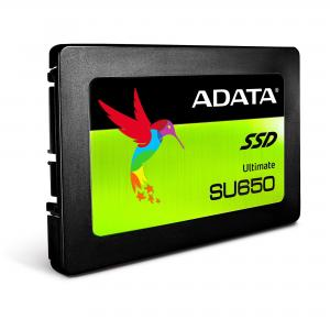 "ADATA Dysk SSD ADATA Ultimate SU650 960GB 2,5"" SATA3 (520/450 MB/s) 7mm, 3D NAND / Black Retail"