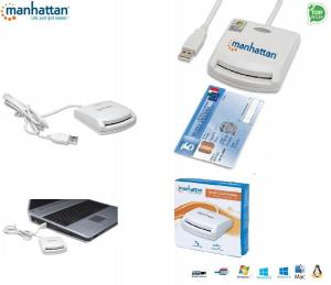 Manhattan Czytnik kart Manhattan USB 1.1, Smart Card, biały