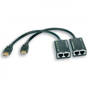 Techly Extender HDMI Techly EXT-E30D po skrętce Cat. 5e/6 do 30m, czarny IDATA
