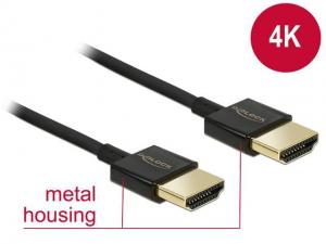 Delock Kabel HDMI Delock HDMI-HDMI High Speed Ethernet 4K 3D 0.25m
