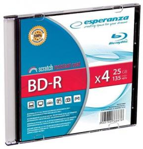 ESPERANZA BD-R Esperanza 25GB x4 (Slim 1) BluRay