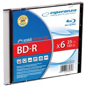 ESPERANZA BD-R Esperanza 25GB x6 (Slim 1) BluRay