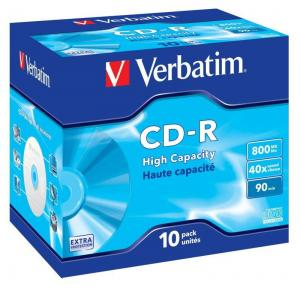 VERBATIM CD-R Verbatim 40x 800MB (Jewel Case 10) EXTRA PROTECTION