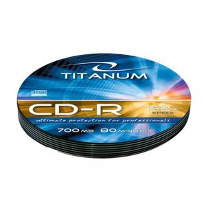 Titanum CD-R Titanum 56x 700MB (Soft Pack 10) Silver